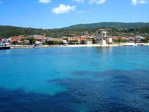 Mer turquoise en Grèce