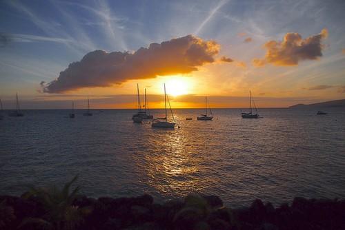 Coucher de soleil aux Trois-Îlets en Guadeloupe