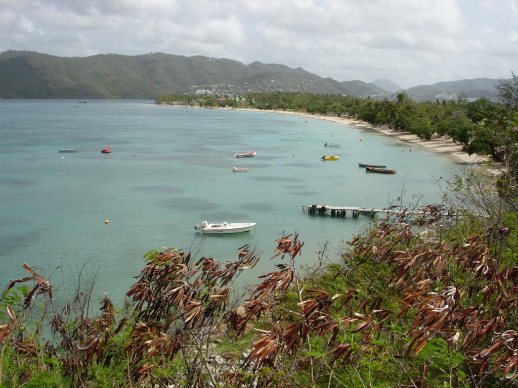 Voir la plage de Sainte-Anne à la Martinique lors d'une croisière avec Vents de Mer